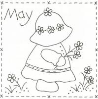 Sunbonnet Sue BOM - May Stitchery Pattern LQC-S5