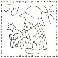 Sunbonnet Sue BOM - July Stitchery Pattern LQC-S7