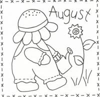 Sunbonnet Sue BOM - August Stitchery Pattern LQC-S8