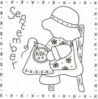 Sunbonnet Sue BOM - September Stitchery Pattern LQC-S9