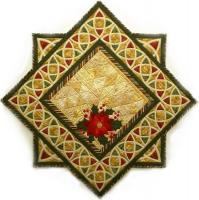 December Holly & Poinsettia Table Runner Pattern MGD-127