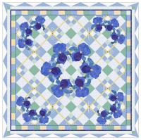 The Summer Iris Picnic Quilt Pattern MGD-204