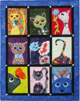 10 Crazy Cats Wall Hanging Pattern MMD2-J165