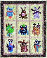 Monster Mischief Wall Hanging Quilt Pattern MMD2-J171