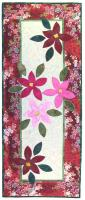 Christmas Party Poinsettia Table Runner Pattern MQW-062e