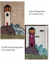 Lighthouse Rug Punching or Rug Hooking Pattern NDD-604