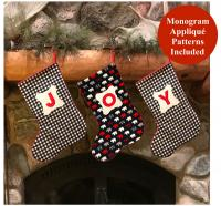 Monogrammed Christmas Stocking Sewing Pattern NZP-Q019