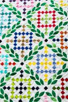 Cross-Stitched Garden Quilt Pattern OLQ-101