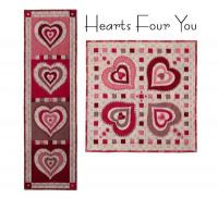 Hearts Four You Quilt Pattern PAD-159e