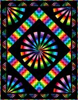 Psychedelic Spin Quilt Pattern PC-201