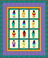 Indian Sunbonnet Sue Quilt Pattern PCG-2103e