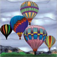 Up, Up & Away Stained Glass Pattern PES-110S