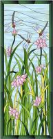 Dragonflies & Lotus Stained Glass Pattern PES-112S