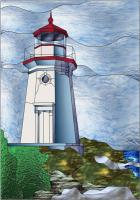 Lighthouse 2 Stained Glass Pattern PES-114S