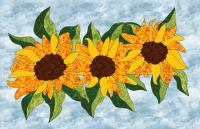 Sunflowers Applique & Hand Embroidery Pattern PES-118N
