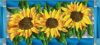Sunflowers Stained Glass Pattern PES-118S