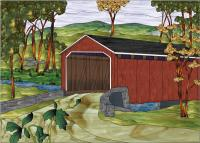 Covered Bridge Stained Glass Pattern PES-120S