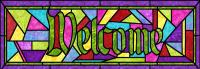 Welcome Stained Glass Pattern PES-122S