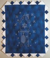 Winter Blues Embroidered Wall Hanging Pattern PG-107