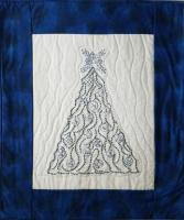 Blue Christmas Embroidered Wall Hanging Pattern PG-108