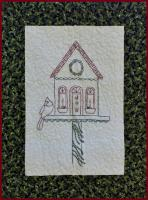 Holiday House Embroidered Wall Hanging Pattern PG-110