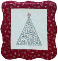 Country Christmas Embroidered Wall Hanging Pattern PG-111