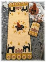 Halloween Cats & Jacks Penny Rug & Penny Pocket Pattern PLP-126e