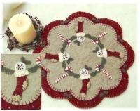 Christmas Stockings Penny Rug & Candle Mat Pattern PLP-127e