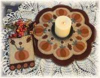 Autumn Beauty Penny Rug Candle Mat Set Pattern PLP-137e