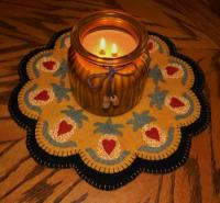 Colonial Welcome Penny Rug Candle Mat Pattern PLP-158e