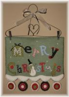 Merry Christmas! Penny Rug Wall Hanging Pattern PLP-161e