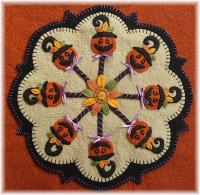 Pumpkin Pops Candle Mat Pattern PLP-183e
