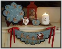 And To All A Good Night! Candle Mat, Chair Swag, & Ornies Pattern PLP-217e