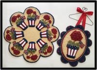 Memorial Day Candle Mat & Mini Mat Pattern PLP-231e
