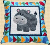 Happy Hippo Pillow Pattern PPP-056