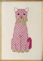 The Pink Cat Cross Stitch Pattern PS-9708