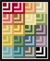 Rainbow Taffy Quilt Pattern PS-978