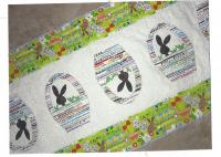 Bunnies and Baskets Table Runner Pattern QBE-115e