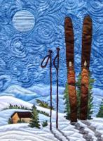 Skiing Under the Moonlight Quilt Pattern QFA-102