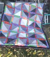 Neon and Neutral Quilt Pattern QJK-104