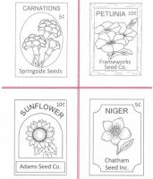 Seed Packets #1 Embroidery Pattern QLD-138e