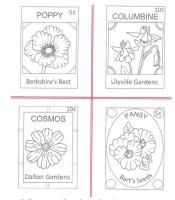 Seed Packets #2 Embroidery Pattern QLD-139e