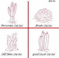 Cactus #1 Embroidery Pattern QLD-142e