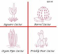 Cactus #2 Embroidery Pattern QLD-143e