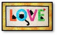 Cat Love Letters Quilt Pattern QLD-214e