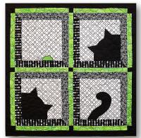 Cat and Mouse Wall Hanging Quilt Pattern QLD-230e