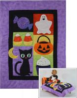 Trick or Treat Doll Quilt, Pillow, Pillowcase and Stuffie Pattern RDH-01