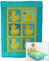 Rubber Duckies Doll Quilt, Pillow, Pillowcase and Stuffie Pattern RDH-03