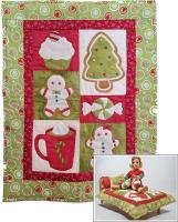 Christmas Sweets Doll Quilt, Pillow, Pillowcase and Stuffie Pattern RDH-04
