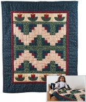 Flowers at the Cabin Doll Quilt Pattern with Pillow/Pillowcase Pattern RDH-05
